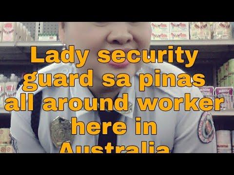 Pilipinang  lady security  guard sa pinas all around Job sa Australia