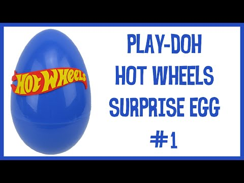 Giant Play-Doh HOT WHEELS surprise egg