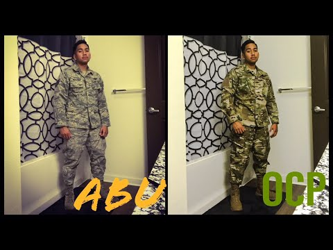 Air Force OCP vs ABU Comparison OCP Uniform TACTICAL First look