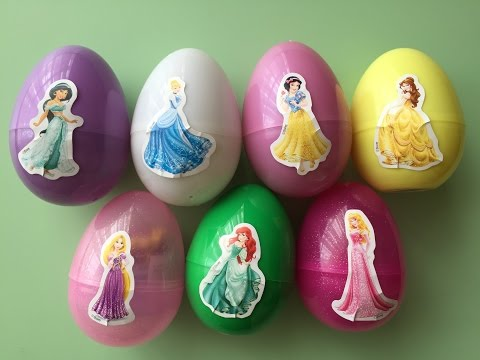 Surprise Eggs, Toys Include Princess Cinderella Princess Belle Princess Rapunzel Princess Ariel ...
