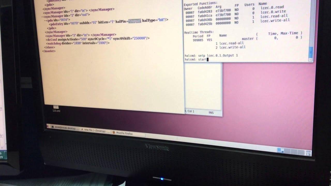 LinuxCNC+IgH EtherCAT Master+beckhoff I/O DEMO