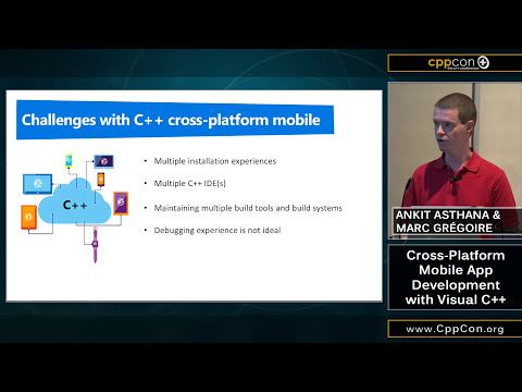 "CppCon 2015: Ankit Asthana & Marc Gregoire ""Cross-Platform Mobile App Development With Visual C++"""