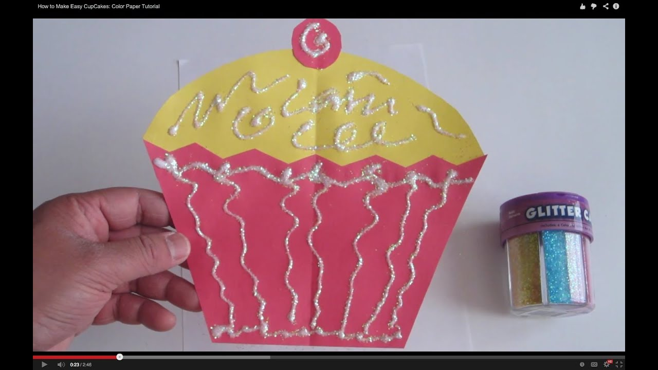 How To Make Easy Cupcakes Color Paper Tutorial Lana3lw Youtube