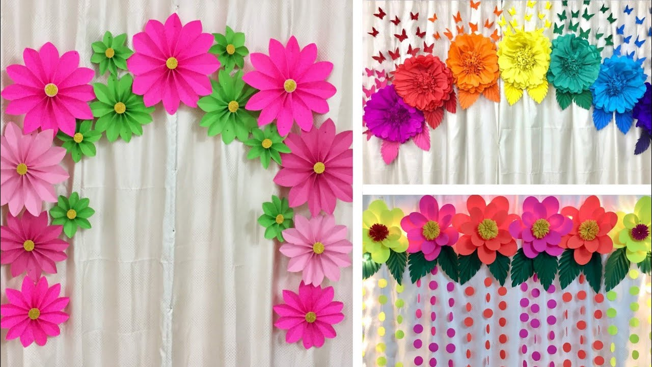 3 EASY PAPER FLOWERS DECORATION IDEAS FOR ANY OCCASION AT ...