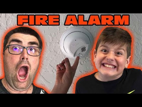 Kid Temper Tantrum Pranks Dad By Testing The Fire Alarm Without Him Knowing  [Original]