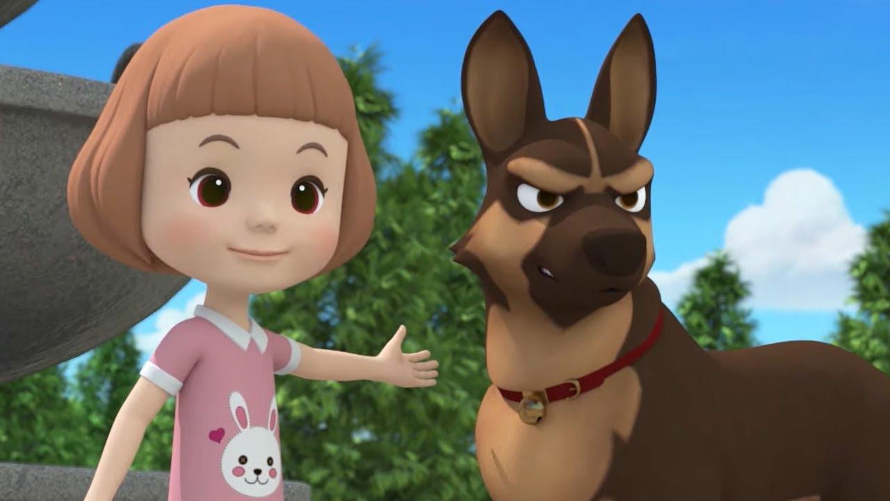 Робокар Поли — Уроки безопасности с Эмбер — Когда рядом собака | Мультики про машинки