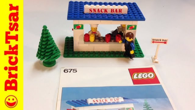 LEGO set 675 Snack Bar from 1979 Vintage Classic Town - YouTube