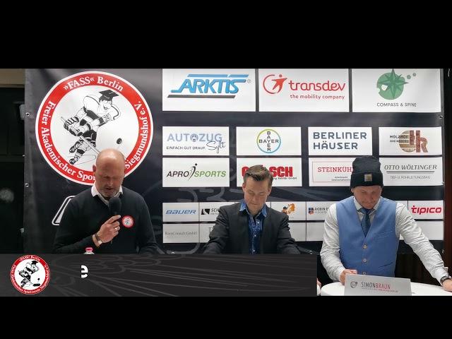 Pressekonferenz F.A.S.S Berlin Vs ECC Preussen Berlin Halbfinale Spiel 2