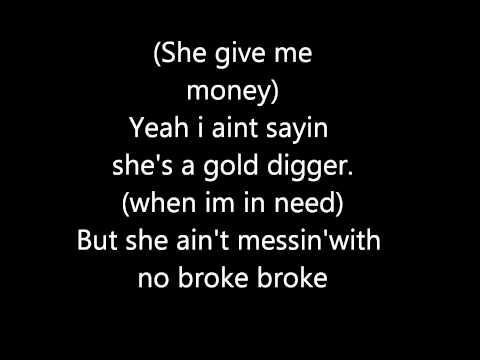 Glee - Gold Digger Lyrics Video!