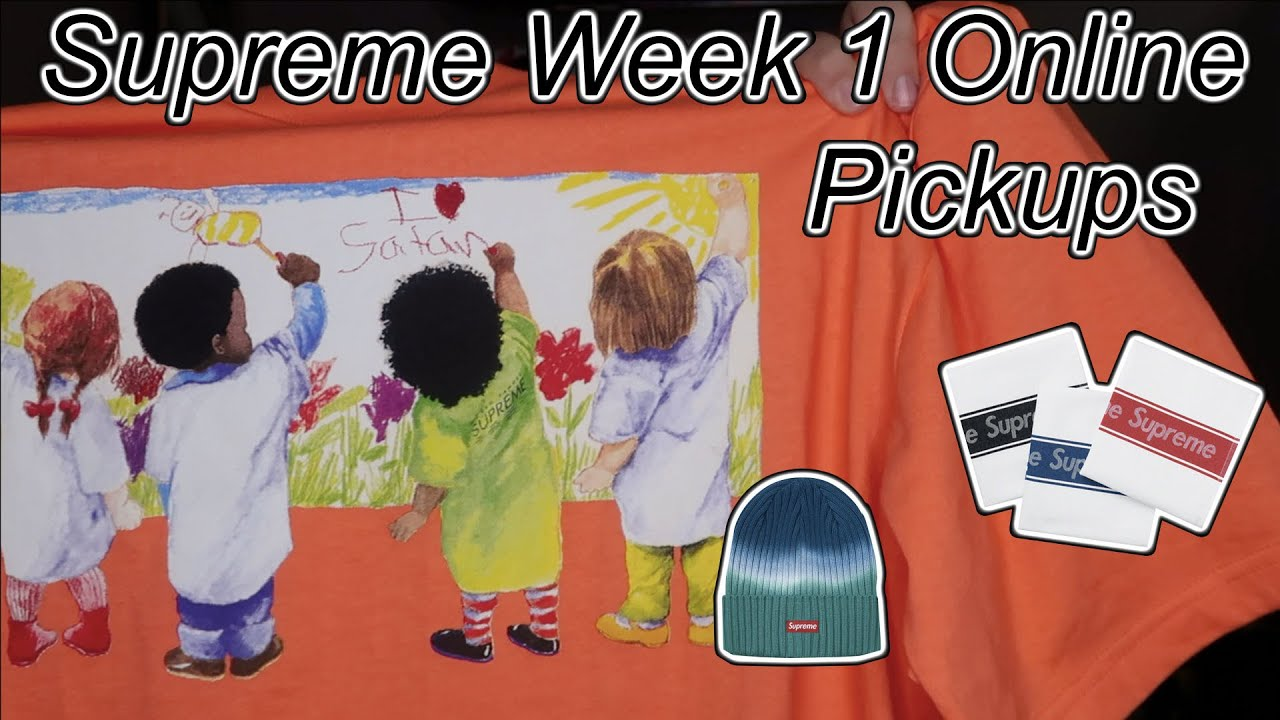 SUPREME SS19 WEEK 1 ONLINE PICKUPS***KIDS TEE, DISH TOWELS, AND MORE