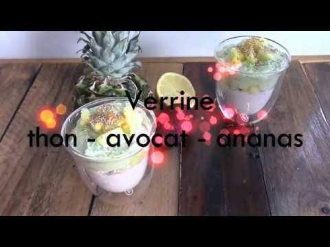 verrine-avocat,-thon,-ananas