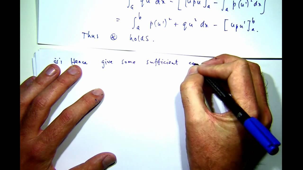 Eigenvalues of a Sturm Liouville differential equation