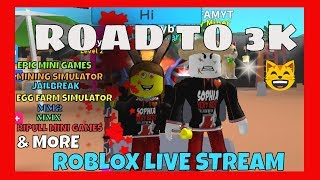 Roblox Live Stream - Jailbreak - Farming Simulator & More! SVBDAD - Ask Alexa Feature For Donators!