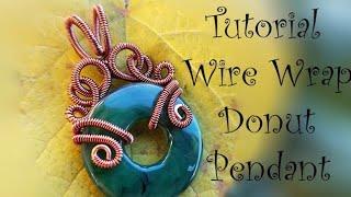 Wire Wrap Donut Bead