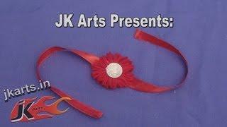 DIY Woolen Rakhi For Raksha Bandhan - JK Arts 049