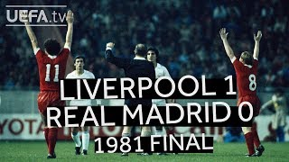 KENNEDY, DALGLISH, SOUNESS: LIVERPOOL 1-0 REAL MADRID, 1981 EUROPEAN CUP FINAL