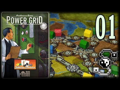 All Because of One Extra Coal! - Power Grid 01 - Tabletop Simulator