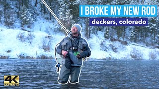 WINTER FLY FISHING NEVER A DULL MOMENT IN DECKERS COLORADO SOUTH PLATTE RIVER SHOT IN 4K