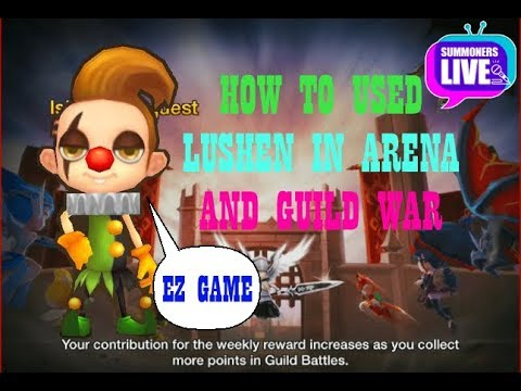 [Summoners War] [Summoners Live] -  How to use lushen in arena and guild war