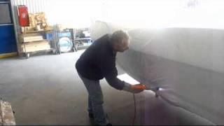 Inplastning av båt med Ripack 2200