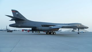 B-1 Bombers Support Operation Enduring Freedom From Al Udied AB, Qatar!