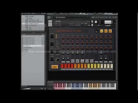 Samplephonics 808 Kontakt Sampler Instrument Overview
