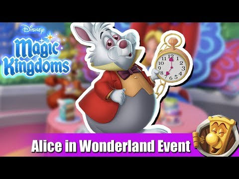 LET'S WELCOME THE WHITE RABBIT   Disney Magic Kingdoms   Alice in Wonderland Event   #1