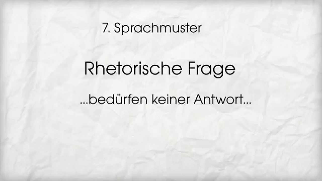 Hypnotisches Sprachmuster_ Rhetorische Frage - YouTube