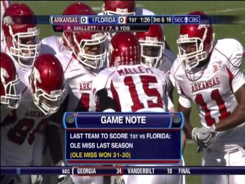 2009 Florida vs Arkansas 1st Half