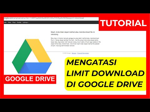 (TERBARU 2020) - Cara Mengatasi Limit Download Google Drive Dengan Mudah