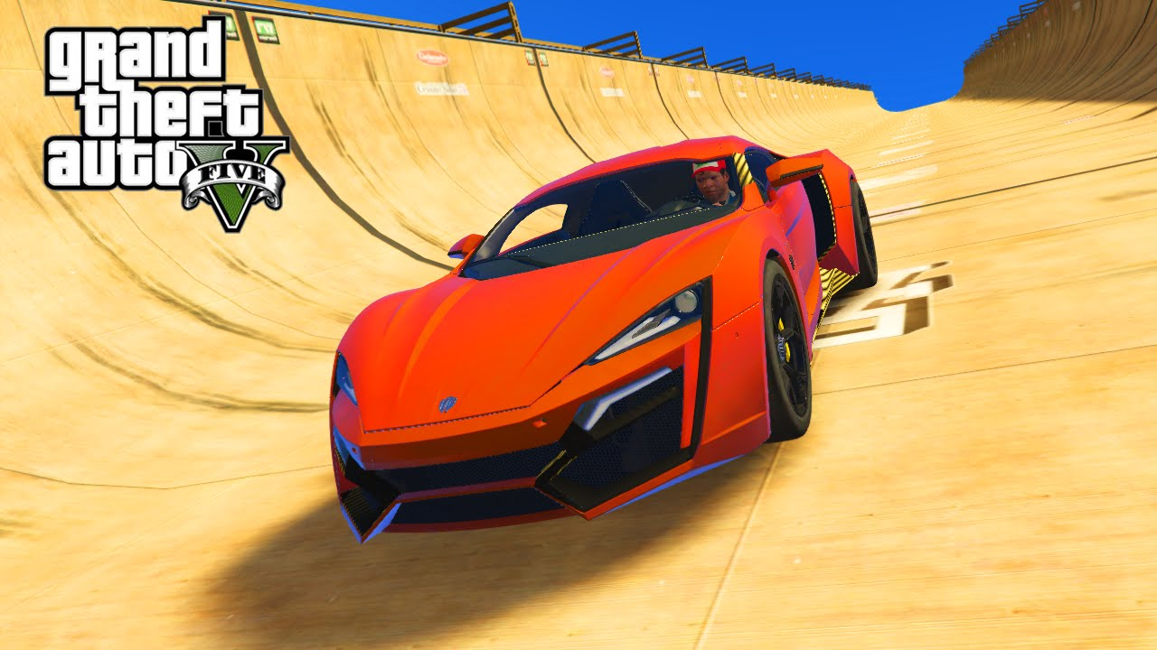 GTA PC Mods HYPER LYKAN SUPER CAR STUNTS MEGA RAMPS GTA - Hyper fast cars
