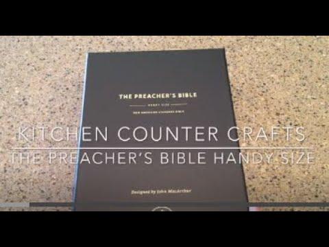 The Handy Size Preacher's Bible  Review John MacArthur