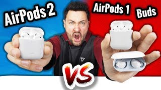AirPods 2 VS AirPods 1 VS Galaxy Buds : Le Gros Fight !