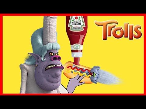 Trolls Bergen Chef Tricks Robot Toy Into Stealing Trolls Poppy and Branch | Ellie Sparkles