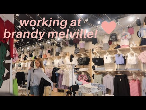 what working at brandy melville is like! thumbnail