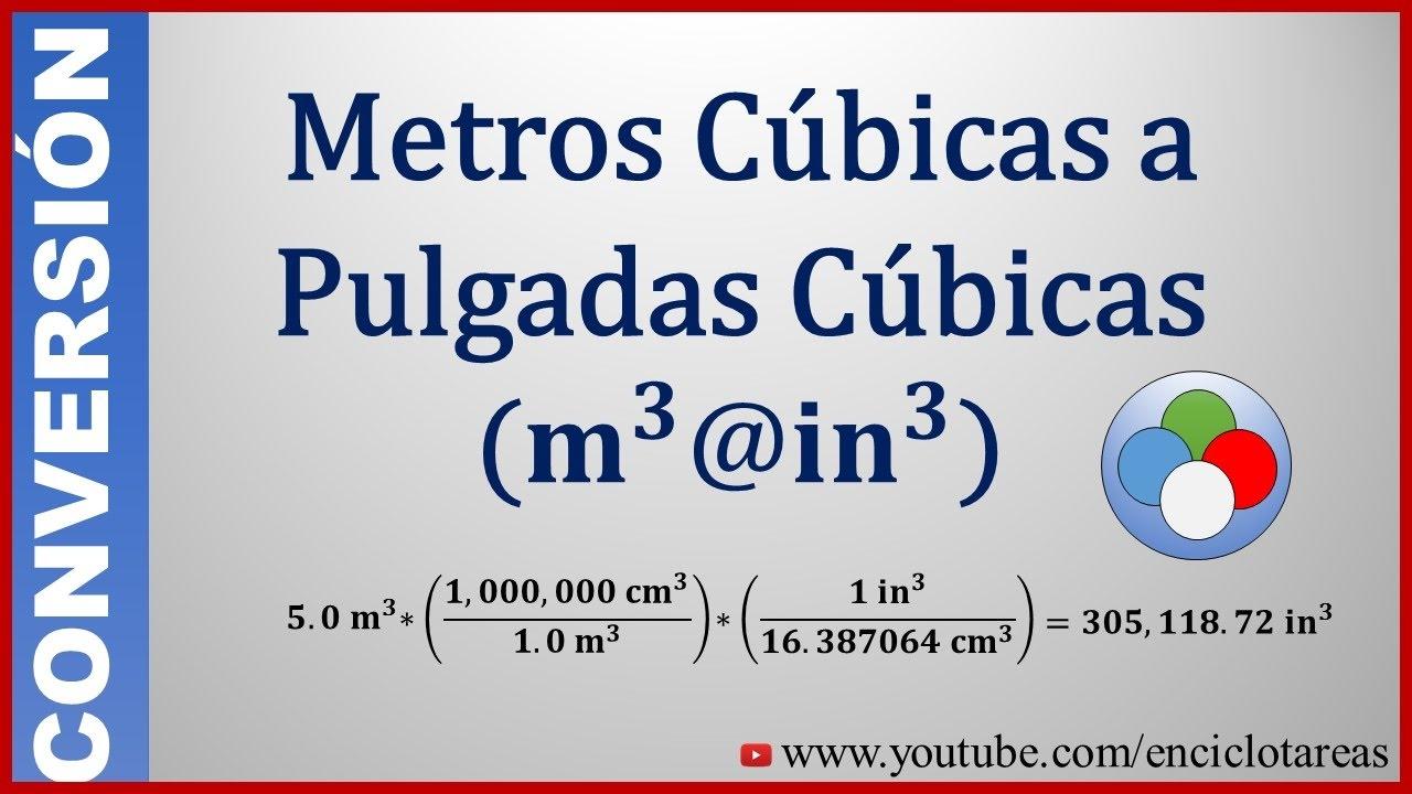 Convertir de metros c bicos a pulgadas c bicas m a in youtube - Pasar de metros a metros cuadrados ...