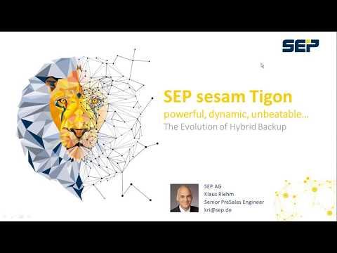 SEP sesam Tigon - Introduction of New Features   Presentation (Lang_EN)