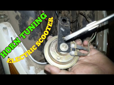 HOW TO HORN REPAIR AND TUNING ELECTRIC SCOOTER