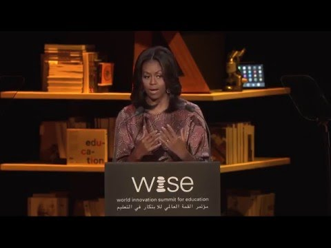 First Lady Michelle Obama on Girls' Education - WISE 2015 Sp