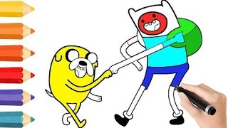 Adventure Time Coloring Pages & Drawing for children   How to color by COLORING KIDS TV