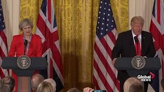 President Donald Trump and British PM Theresa May full joint news conference