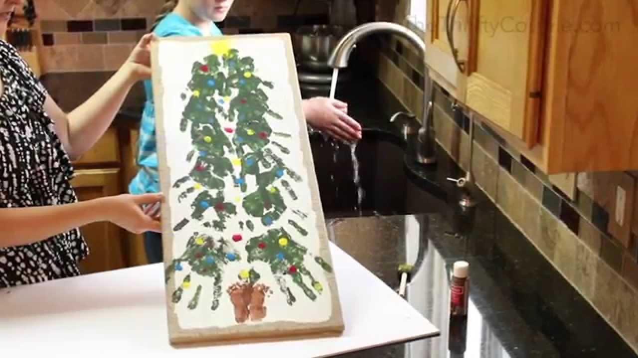 Family Christmas Tree Handprints Footprints And