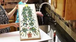 Family Christmas Tree Handprints Footprints and Fingerprints