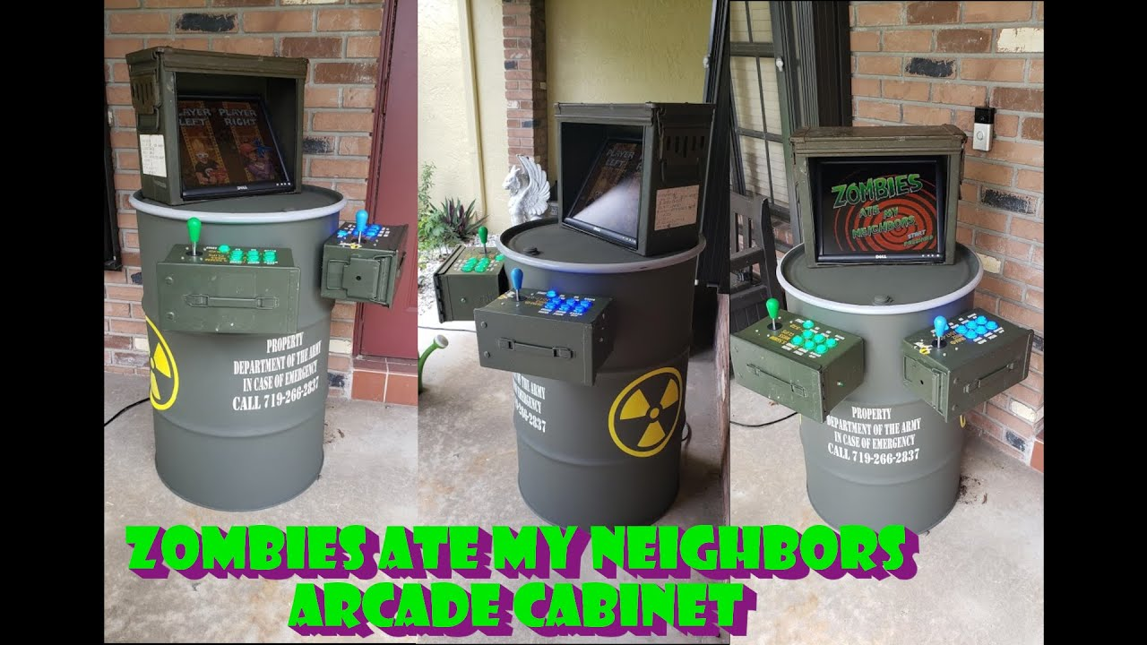Zombies Ate My Neighbors Custom Arcade Build!
