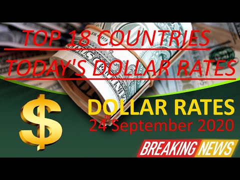 Dollar Rates For Today   24th September 2020    Dollar Price Increased
