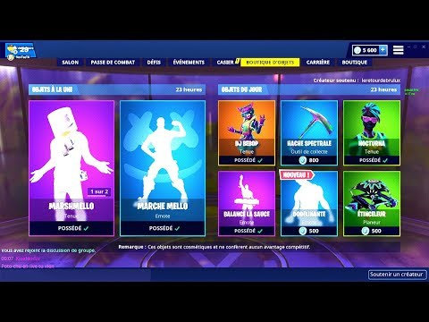 BOUTIQUE FORTNITE du 1er Fevrier 2019 ! ITEM SHOP February 1 2019 !