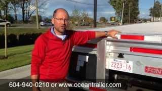 Fontaine Revolution Flat Deck Trailer at Ocean Trailer