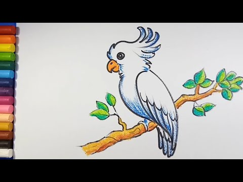 Easy And Simple Bird Drawing Youtube