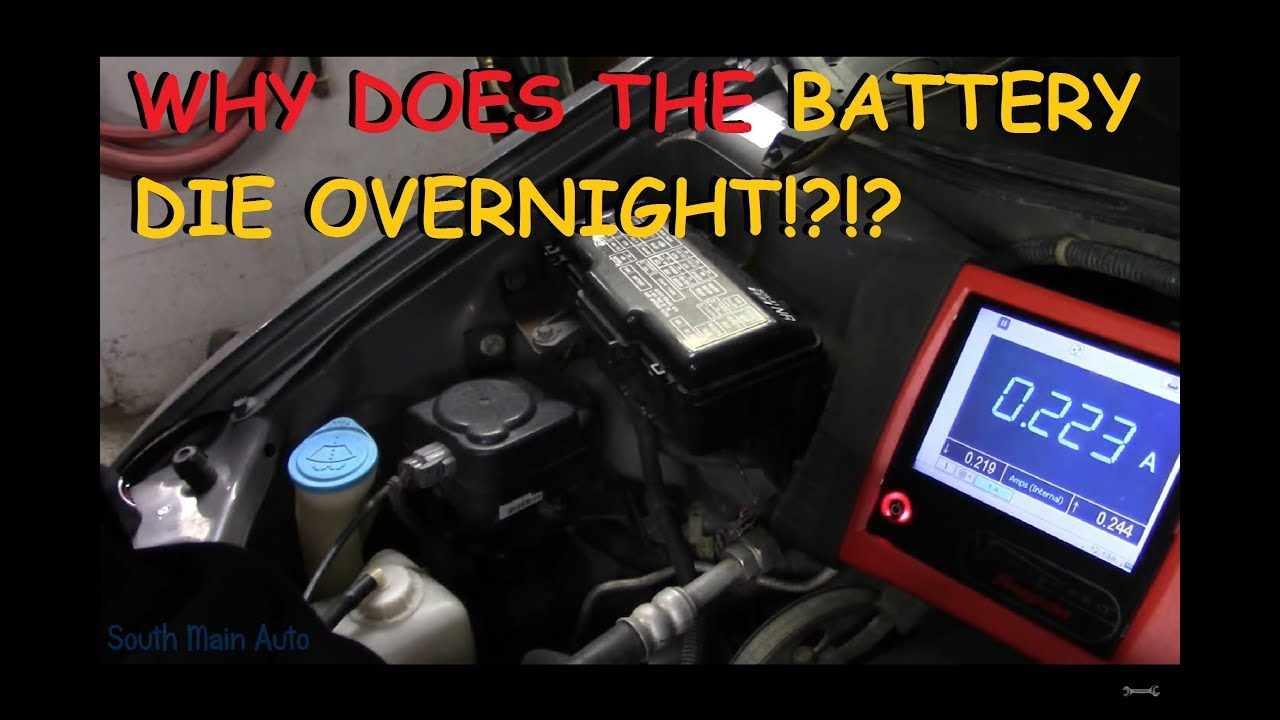 Diagnosing Battery Draw Goes Dead Overnight