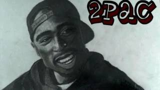 How to Draw Tupac Shakur (2Pac) Step by Step Portrait